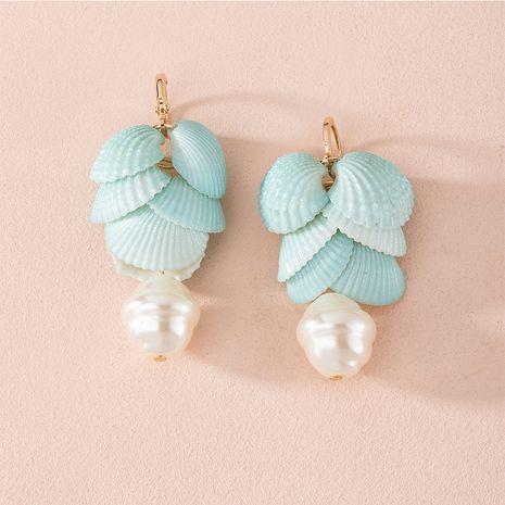 Coréen fée baroque perle d'eau douce shell nouvelles boucles d'oreilles de niche en gros NHAI252772's discount tags
