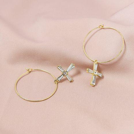 neue Diamant Kreuz einfache Ohrringe Großhandel NHGU252796's discount tags