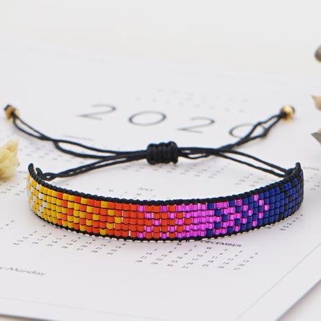 fashion purple antique rice bead woven magic geometric women's bracelet NHGW252803's discount tags