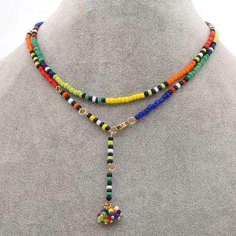 collier bohème chaîne clavicule perles de riz colorées NHGW252820's discount tags