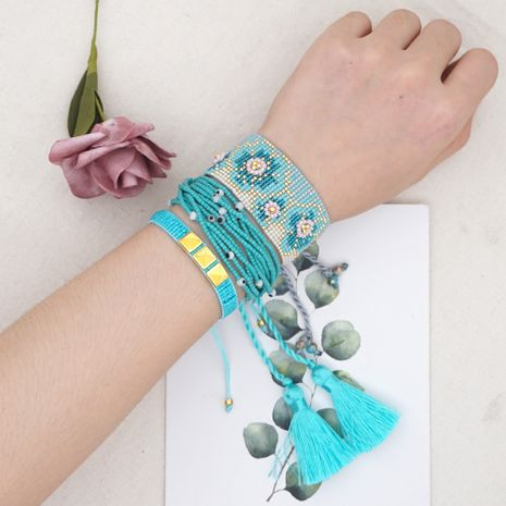 fashion trend style multi-layered beaded rice beads woven plum blossom wide bracelet for women NHGW252822's discount tags