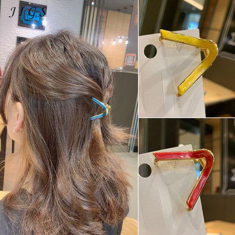 Pince à cheveux en forme de V arc-en-épingle à cheveux incurvée simple coréenne petite pince à pince coiffe en gros NHOF252826's discount tags