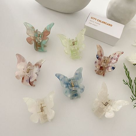 Korean new  Acetate butterfly small catch clip cute small hair clip wholesale NHCQ252832's discount tags