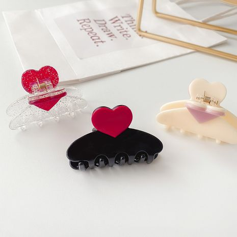 Korea resin hairpins pan hair grabbing clips hair claw headdress wholesale NHCQ252833's discount tags
