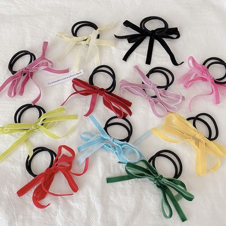 Korean retro velvet bow hair rope sweet hair circle lady head rope wholesale NHCQ252836's discount tags