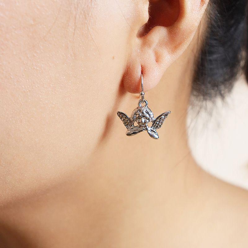 popular new cute little angel earrings hot selling wholesale NHGU252854