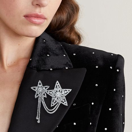 Fashion new anti-fade  star rhinestone brooch   NHHS252861's discount tags