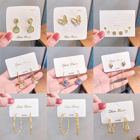 einfache und exquisite 925 Silber Nadel Titan Stahl Ohrhaken Ohrringe Großhandel NHNA252893's discount tags
