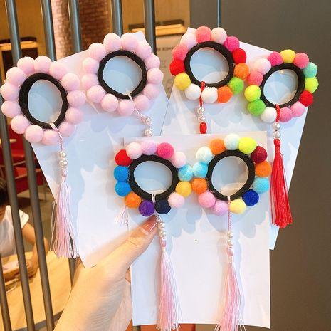 Cravate à cheveux pompon de couleur boule pour enfants filles bébé princesse élastique mignon NHSA252895's discount tags
