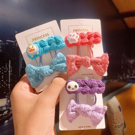 Ensemble de pinces à tête de cravate pour cheveux bowknot pour enfants coréens NHSA252896's discount tags