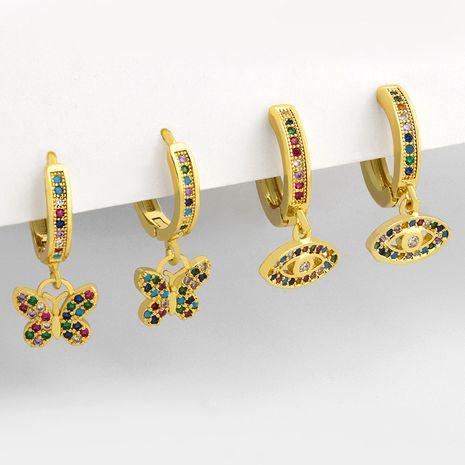 nouvelles boucles d'oreilles oeil de démon papillon zircon micro-incrusté de cuivre de mode pour les femmes NHAS252901's discount tags