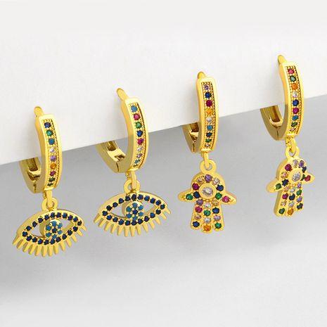 mode micro-incrusté zircon simples boucles d'oreilles en cuivre oeil du diable pour femmes bijoux accessoires NHAS252902's discount tags