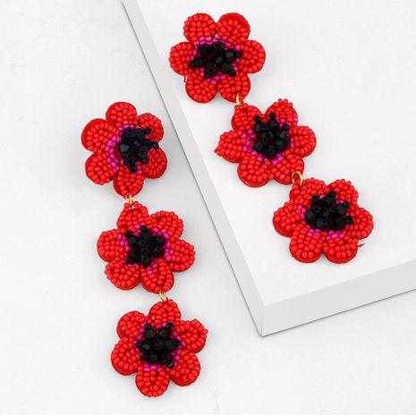 Perles de riz de niche de mode fleur longues boucles d'oreilles en perles à la main pour femmes NHAS252910's discount tags