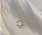 NHYQ1094427-Pair-of-golden-pearl-ear-bone-clips