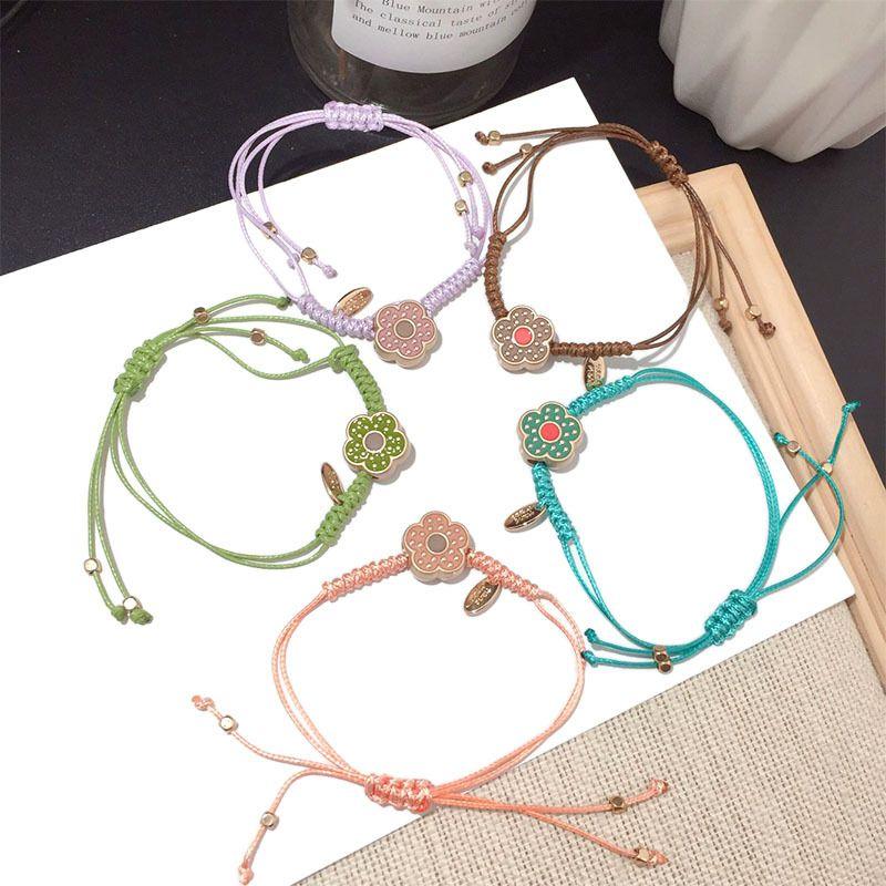 Korean new fashion  hand-woven sweet flower bracelet wholesale NHFT252926