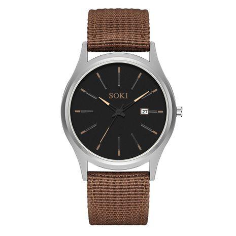 Reloj de correa de lona de moda reloj de pulsera deportivo de calendario simple para hombres al por mayor NHSS252932's discount tags