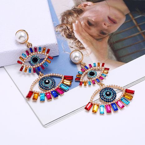 Demon  Exaggerated Earrings New Long Eye  Retro Earrings wholesale NHLN252960's discount tags