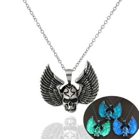 Hot-selling Fashionable Winged Skull Shape Pendant  luminous necklaces NHAN252973's discount tags