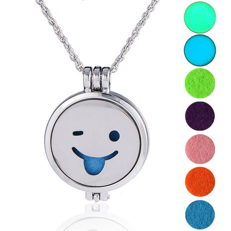 hot-selling luminous  long sweater chain luminous DIY emoticon bag pendant necklace NHAN252991's discount tags