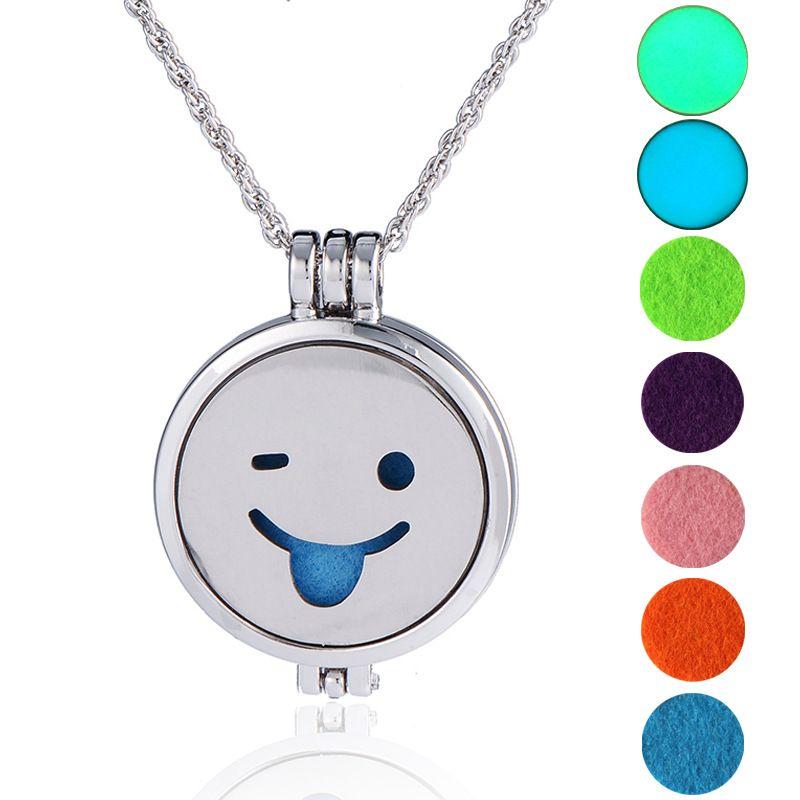 hot-selling luminous  long sweater chain luminous DIY emoticon bag pendant necklace NHAN252991