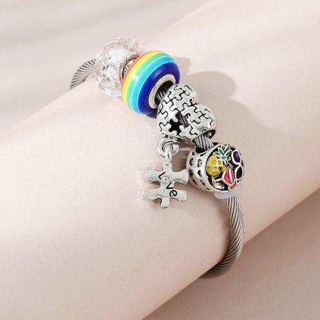 creative small pineapple bracelet wholesale nihaojewelry NHPS253024's discount tags