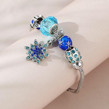 fashion creative snow-ying flower rhinestone glass bracelet wholesale nihaojewelry NHPS253025's discount tags