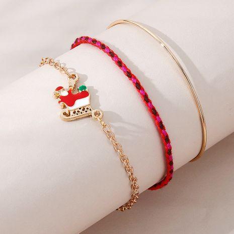 Noël créativité ligne populaire traîneau de Noël vieil homme bracelet ensemble en gros nihaojewelry NHPS253041's discount tags