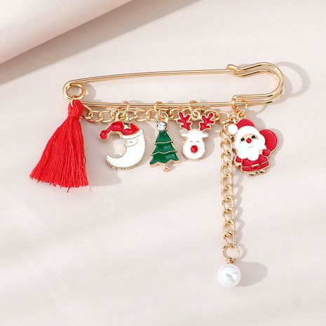 Christmas fashion creative retro pearl brooch wholesale nihaojewelry NHPS253047's discount tags
