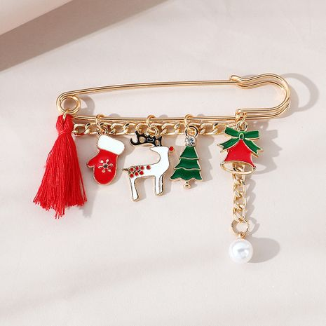 Christmas line fashion pearl brooch wholesale nihaojewelry NHPS253048's discount tags