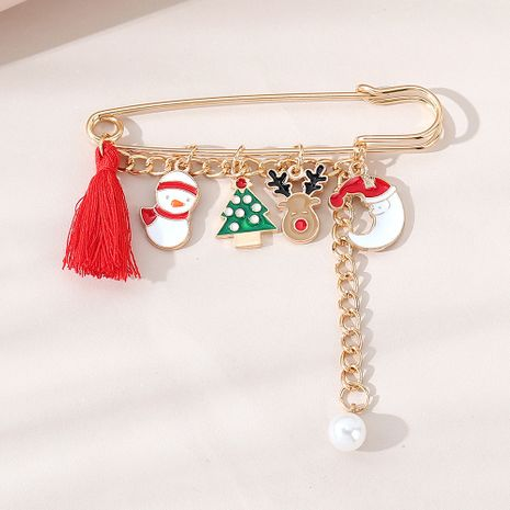 Christmas retro fashion all-match popular pearl brooch wholesale nihaojewelry NHPS253049's discount tags