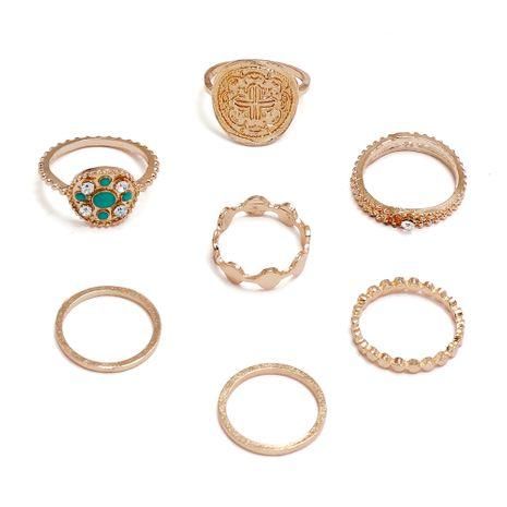 retro fashion creative rhinestone ring set wholesale nihaojewelry NHPS253058's discount tags