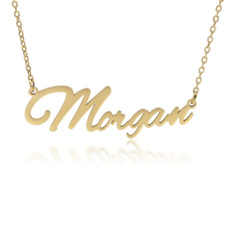 Fashionable stainless steel customizable English alphabet name ladies necklace wholesale NHJJ252604's discount tags