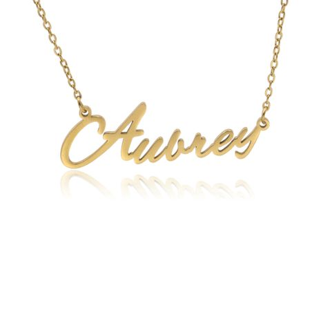 Fashionable stainless steel customizable English alphabet name ladies necklace wholesale NHJJ252603's discount tags