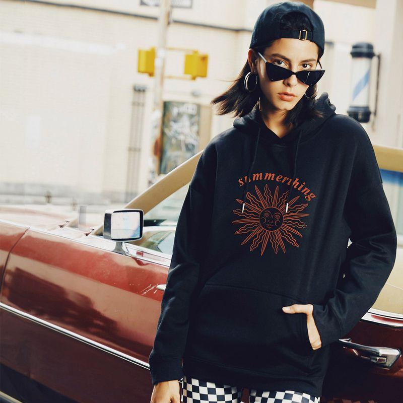 hot-saling autumn new fashion hooded women's sweater  NHSN264233