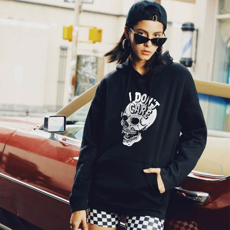 Fashion autumn new women's hooded skull casual sweater  NHSN264234's discount tags