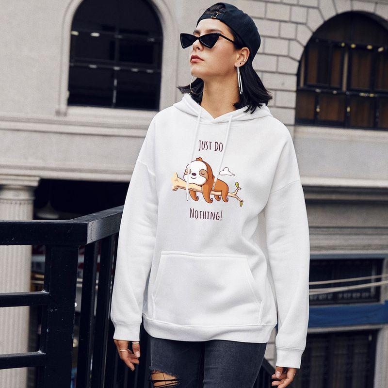 Fashion new autumn womens casual hooded print sweater  NHSN264256