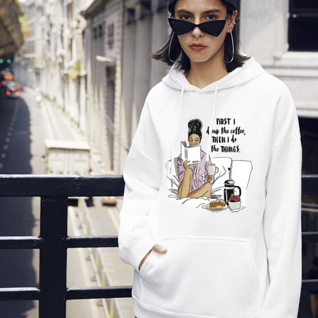 cute autumn fashion women's casual hooded sweater NHSN264285's discount tags