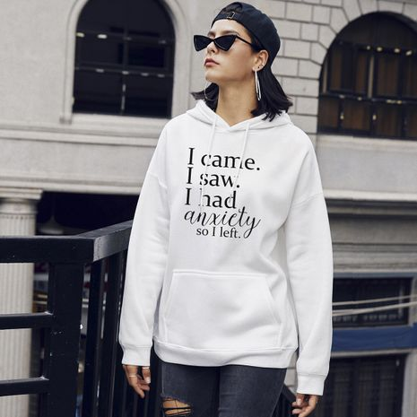autumn fashion new women's letters casual hooded sweater NHSN264288's discount tags