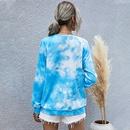Hot Sale Winter New Womens Digital Print Round Neck Long Sleeve TieDye Sweater  NHDF264314