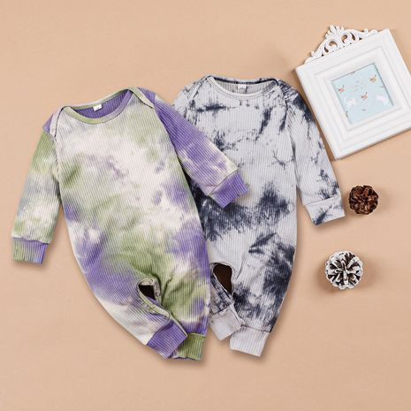 baby clothes tie-dye infant long-sleeved one-piece romper  NHLF264353's discount tags