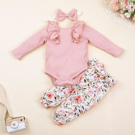 Baby autumn two-piece hang strip long-sleeved trousers printing suit hot-selling baby clothes NHLF264357's discount tags