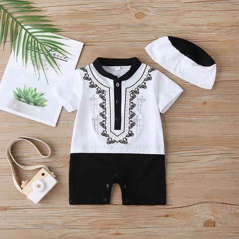 estilo étnico bebé de una pieza bordado moda mameluco corto ropa recién nacida NHLF264369's discount tags