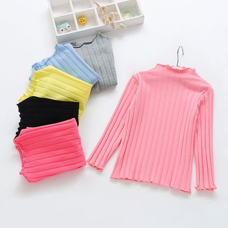 Spring and Autumn Baby Solid Color Top Long Sleeve T-Shirt  NHLF264373's discount tags