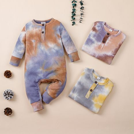 children's clothing new autumn one-piece baby long-sleeved striped romper  NHLF264374's discount tags