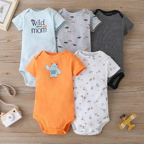 Conjunto de 5 piezas de moda casual triángulo de manga corta para bebé de verano mameluco NHLF264378's discount tags