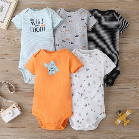 Summer romper baby short-sleeved triangle casual fashion 5-piece set  NHLF264378's discount tags