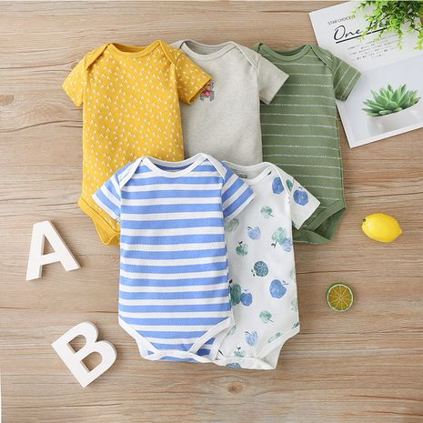 Summer baby clothes cute fashionable casual short-sleeved 5-piece set  NHLF264389's discount tags