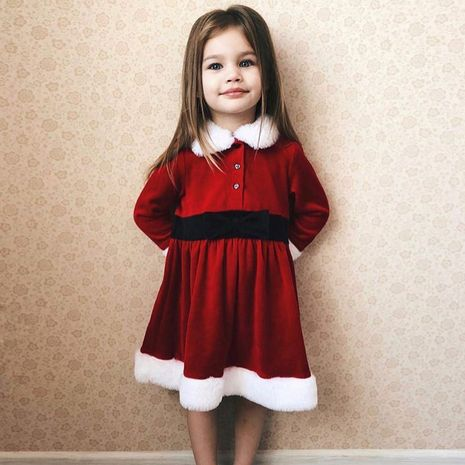 autumn and winter children's clothing long-sleeved Christmas princess dress NHLF264403's discount tags