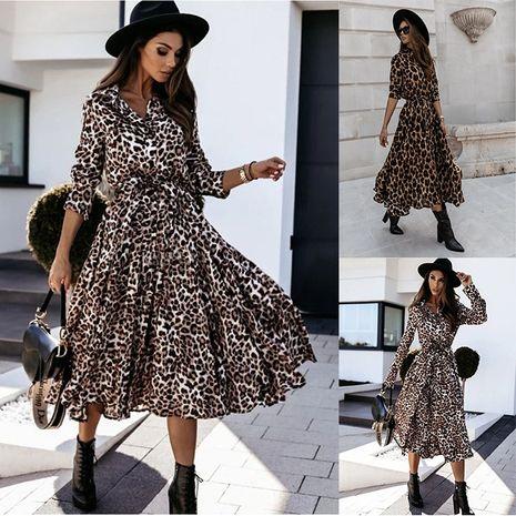 Robe Femme Automne / Hiver à manches longues et col en V NHWA264697's discount tags