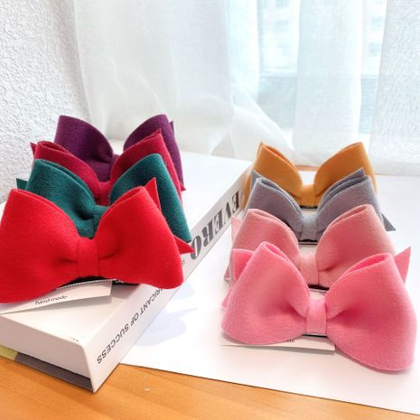 Korea autumn winter new fabric bow hairpin press clip all-match back head hairpin side clip for women NHCQ264636's discount tags